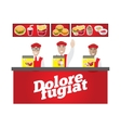 fastfood banner vector image