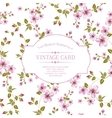 flower texture on vintage card vector image vector image