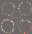 Four floral wreaths vector image