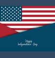 fourth of july independence day greeting card vector image vector image