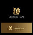 gold building business company logo vector image vector image