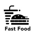 graphic fast food vector image
