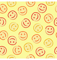 Happy face pattern vector image vector image