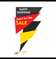 happy shopping limited time offer sale banner d vector image