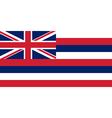 Hawaii Flag vector image