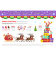 infographics set merry christmas concept with vector image