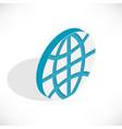 isometric planet icon vector image