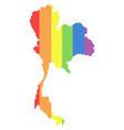 lgbt spectrum dot thailand map vector image