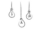 light bulbs process concept art vector image vector image