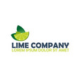 lime logo company citrus logo vector image vector image