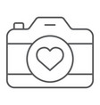 love camera thin line icon photography and vector image