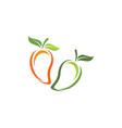 mango in flat style mango logo vector image vector image