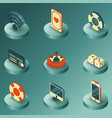 online casino color isometric icons vector image