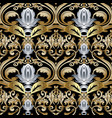 ornate gold silver baroque seamless pattern vector image vector image