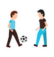 person playing soccer or football icon image vector image vector image
