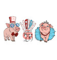 pigs dressed in costumes vector image vector image