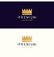 premium crown logotype vector image