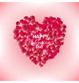 rose petals heart colorful beautiful background vector image