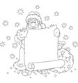 santa claus with a paper scroll vector image vector image