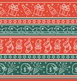 scandinavian christmas red seamless pattern vector image