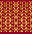 seamless pattern luxury red and gold grid vector image
