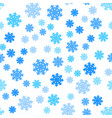 seamless pattern snowflakes endless background vector image vector image
