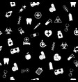 seamless pattern with medical icons in flat vector image