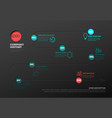 simple timeline with some facts and icons vector image vector image