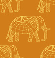 stylized Indian Elephant vector image vector image
