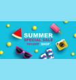 summer sale banner layout design vector image vector image