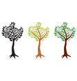 tree flowering set vector image