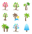 tree icons collection vector image vector image