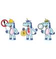 Unicorn Mascot with money vector image