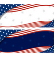 usa banner abstract background design of american vector image