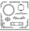 Vintage decorative frames design element set vector image