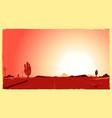 western desert heat vector image