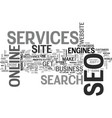 what seo services can do for your online business vector image vector image