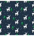 white deer in a forest seamless pattern vector image