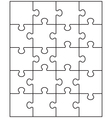 white puzzle 1 vector image