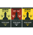 Wine label vector image