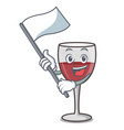 with flag wine mascot cartoon style vector image vector image