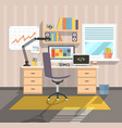 workplace of freelancer flat vector image