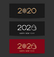 2020 banner collection vector image