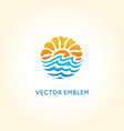 abstract logo design template - sun and sea vector image vector image