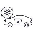 air conditioning car service line icon vector image