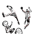 basketball trio vector image