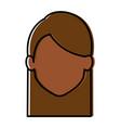 beautiful black woman head avatar character vector image vector image