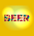 beer concept colorful word art vector image vector image