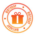birthday stamp vector image vector image