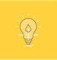 bulb idea electricity energy light flat line vector image
